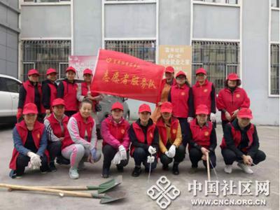 富安街道南山社区开展环境整治志愿服务活动